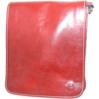 Borse Uomo Tracolle Malu Shoes Borsa tracolla art.349 rossa in pelle made in italy pellame cert ROSSO