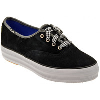 Scarpe Donna Sneakers basse Keds Triple Suede Sportive basse nero