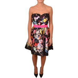 Abbigliamento Donna Vestiti Allure Woman Black Short Dress with Lace and Flower Print<BR/> 200800< Altri