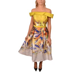 Abbigliamento Donna Vestiti Allure Woman Yellow Dress Abstarct Print Pinces Top Naked Shoulder<BR/ Altri