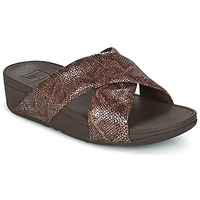 Scarpe Donna Ciabatte FitFlop SWOOP SLIDE Chocolate