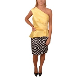 Abbigliamento Donna Vestiti Allure Woman Top and Skirt Yellow Top Black and White Geometric Patter Altri