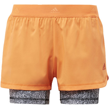 Abbigliamento Donna Shorts / Bermuda adidas Performance Short Two-in-One Printed Arancia