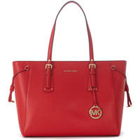 Borse Borse a mano MICHAEL Michael Kors Borsa shopping  Voyager in pelle rossa Rosso