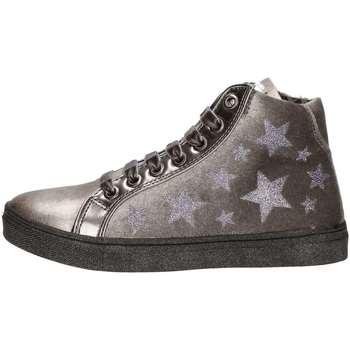Scarpe Bambina Sneakers alte Asso 57644 ARGENTO