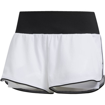 Abbigliamento Donna Shorts / Bermuda adidas Performance Short Advantage Bianca / Nero