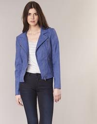 Abbigliamento Donna Giacca in cuoio / simil cuoio Only STEADY Blu
