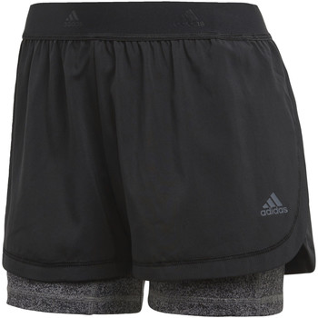 Abbigliamento Donna Shorts / Bermuda adidas Performance Short Two-in-One Printed Nero