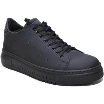Scarpe Uomo Sneakers basse Made In Italia Scarpe uomo art 1001 gommato nero lacci fondo antiscivolo comfo NERO
