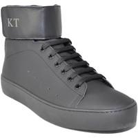 Scarpe Uomo Sneakers alte Keep Time Sneakers alta art.340  nera con strappo fondo nero ant NERO