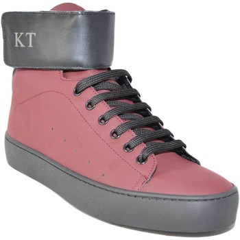 Scarpe Uomo Sneakers alte Keep Time Sneakers alta art.342  bordeaux con strappo fondo nero ROSSO