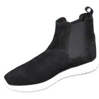 Scarpe Uomo Sneakers alte Malu Shoes Sneakers alta art.994 nero in camoscio fondo bianco running NERO