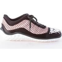 Scarpe Donna Sneakers basse Miu Miu donna sneaker in raso e tessuto a maglie ROSA e nero rosa