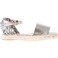 Scarpe Donna Sandali Charlotte Olympia donna sandalo espadrillas in pelle ARGENTO argento