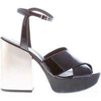 Scarpe Donna Sandali Hogan donna sandalo in vernice NERO con cinturino nero