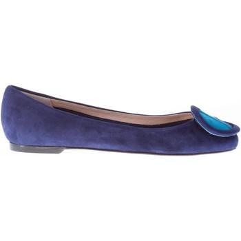 Scarpe Donna Ballerine Il Borgo Firenze ballerina in camoscio BLU con fibbia blu