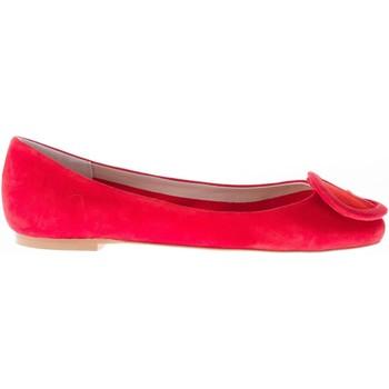 Scarpe Donna Ballerine Il Borgo Firenze ballerina in camoscio ROSSO con  fibbia rosso 73716d73672