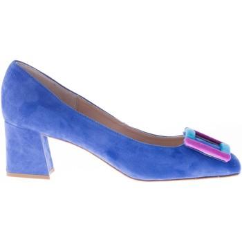 Scarpe Donna Décolleté Il Borgo Firenze Decolletè in camoscio BLUETTE con fibbia colorata blu