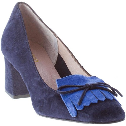 Il Borgo Firenze decolletè in camoscio BLU con frangia blu Scarpe Décolleté Donna 125,00