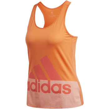 Abbigliamento Donna Top / T-shirt senza maniche adidas Performance Canotta Logo orange