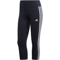 Abbigliamento Donna Leggings adidas Performance Tight Designed 2 Move Climalite 3-Stripes 3/4 Nero / Blu / Bianca