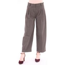 Abbigliamento Donna Pantaloni morbidi / Pantaloni alla zuava Aspesi PANTALONE MILITARE IN FUSTAGNO MODELLO CAPRI AMPIO Brown