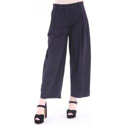 Abbigliamento Donna Pantaloni morbidi / Pantaloni alla zuava Aspesi PANTALONE NERO IN FUSTAGNO MODELLO CAPRI AMPIO Black