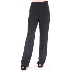 Abbigliamento Donna Pantaloni morbidi / Pantaloni alla zuava Tory Burch PANTALONE AMPIO IN VISCOSA NERO Black