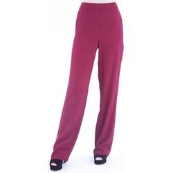 Abbigliamento Donna Pantaloni morbidi / Pantaloni alla zuava Tory Burch PANTALONE AMPIO IN VISCOSA BORDEAUX Red
