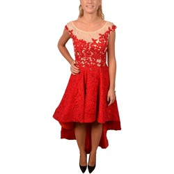 Abbigliamento Donna Vestiti Allure Woman Elegant Red Dress Longer on the Back Decorated with Rosso