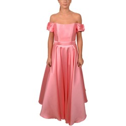 Abbigliamento Donna Vestiti Allure Long Elegant Woman Pink Dress Naked Shoulders Sleeves are& Rosa