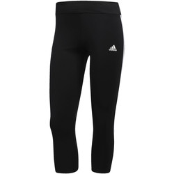 Abbigliamento Donna Leggings adidas Performance Tight 3/4 3-Stripes Nero / Bianca