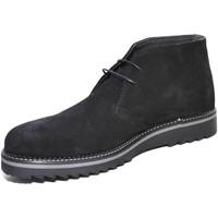 Scarpe Uomo Stivaletti Malu Shoes Scarpe uomo polacchini art:9890 vera pelle scamosciata nero lacc NERO