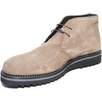 Scarpe Uomo Stivaletti Malu Shoes Scarpe uomo polacchini art:9890 vera pelle scamosciata beige la BEIGE
