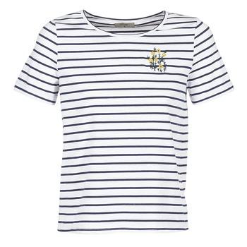 Abbigliamento Donna T-shirt maniche corte Betty London INNAMOU Bianco / Marine