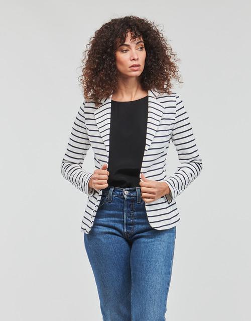 Abbigliamento Donna Giacche / Blazer Moony Mood IFAROUCHE Bianco / Marine