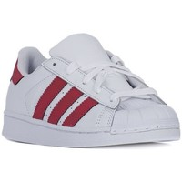 Scarpe Unisex bambino Sneakers basse adidas Originals Superstar Foundation Bianco