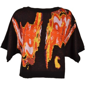 Abbigliamento Donna Maglioni Versace Black and Orange Woman Sweater with Lurex Fabric<BR/>G33728G602 Altri