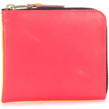 Borse Portafogli Comme Des Garcons Portafoglio  in pelle rosa e giallo fluo Multicolor