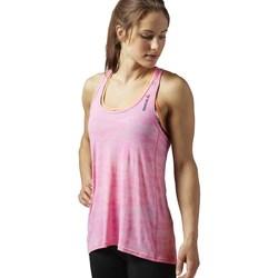 Abbigliamento Donna Top / T-shirt senza maniche Reebok Sport OS BO Breeze Tank Rosa