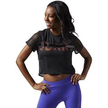 Abbigliamento Donna T-shirt maniche corte Reebok Sport Cardio Tee Nero
