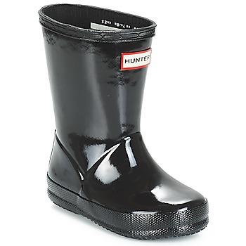 Scarpe Unisex bambino Stivali da pioggia Hunter KIDS FIRST CLASSIC GLOSS Nero