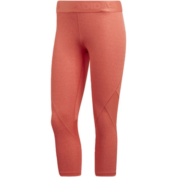 Abbigliamento Donna Leggings adidas Performance Tight 3/4 Alphaskin Sport Heather Arancia / Multicolore