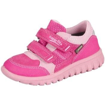 Scarpe Unisex bambino Sneakers basse Superfit Sport Mini Pink Kombi Velour Tecno Textil Rosa