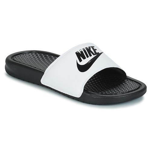 Uomo Nero Bianco Scarpe Nike Benassi It Do Ciabatte Just wkPXnON80