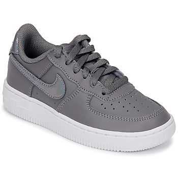 Scarpe Bambina Sneakers basse Nike AIR FORCE 1 PRE-SCHOOL Grigio / Argento