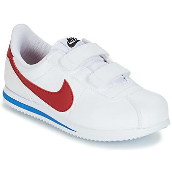 Scarpe Bambino Sneakers basse Nike CORTEZ BASIC PRE-SCHOOL Bianco / Blu / Rosso