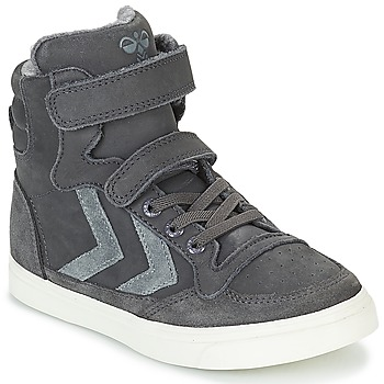 Scarpe Unisex bambino Sneakers alte Hummel STADIL OILED HIGH JR Grigio