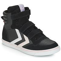 Scarpe Bambina Sneakers alte Hummel STADIL LEATHER JR Nero