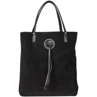 Borse Donna Tote bag / Borsa shopping Borbonese SHOPPING VERTICALE MEDIA Nero